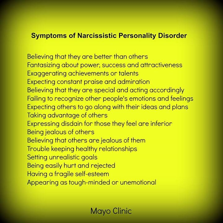Narcissistic personality disorder and divorce
